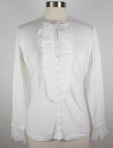 cf8993de0d5d7 BNWT New sz 42 US 10 Anne Fontaine white blouse top long sleeves ...