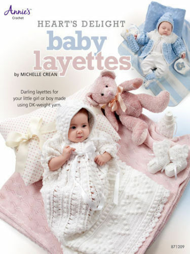 PATTERNS sweater set booties Heart/'s Delight Baby Layettes: christening gown