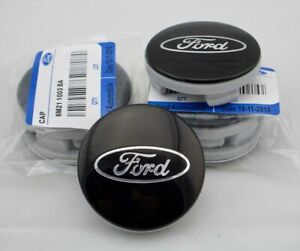 4-x-54mm-FORD-Schwarz-Black-Nabenkappen-Felgendeckel-Allufelge-Alloy-Wheel-Cap