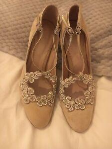 Blossoms Bridal Shoes -Blush Size 4
