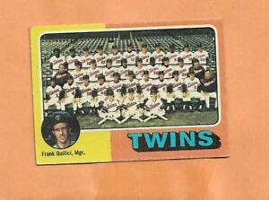 Minnesota Twins Équipe Carte Topps 1975 Carte #443 Pybxlzd7-08013124-591813656