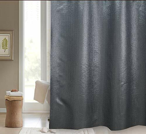 BLUE CANYON STARLIGHT LUXURY POLYESTER TEXTILE SHOWER CURTAIN SC-502BK