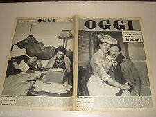 OGGI=1956/5=WOLFGANG AMADEUS MOZART=VINCENZO GEMITO=ERNESTO VIDAL PRO PATRIA=