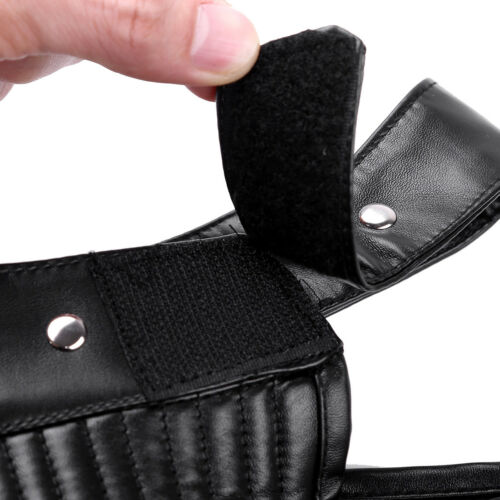 Women Faux Leather Shoulder Chest Harness Half Buckle Corset Bustier Top Costume