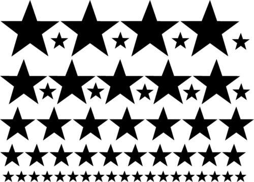 54pcs Star Stars set removable vinyl wall decals