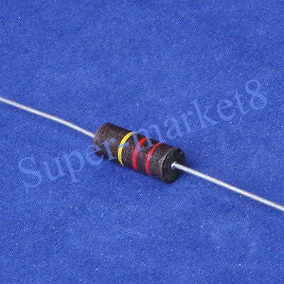 5PC 220K 1W 1watt Carbon Composition Resistor ALLEN Style