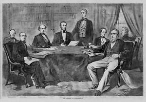 Amazing Image Is Loading ABRAHAM LINCOLN AND HIS CABINET POLITICAL HISTORY PRINT
