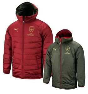 Details about Puma Men Arsenal Reversible Bench Padded Red Jacket Winter  Coat Padded 75323807