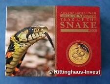 Lunar II Schlange Gold  PROOF 1/10 Goldmünze BOX COA Year of the snake 2013