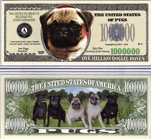 Lot of 10 Bills BLOODHOUND DOG MILLION DOLLAR MONEY