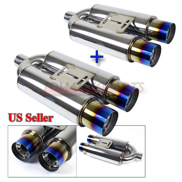 "FOR HOLDEN PERFORMANCE! 2x FI N1 STYLE DEEP NOTE EXHAUST MUFFLER+3.5"" NEO TIPS"