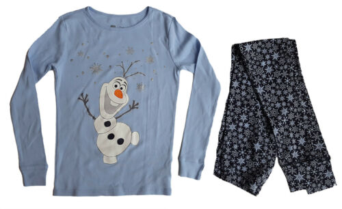 GAP ragazze Disney congelato Olaf Blu Pigiama Sleepwear pigiama Top Set 10-13y £ 29