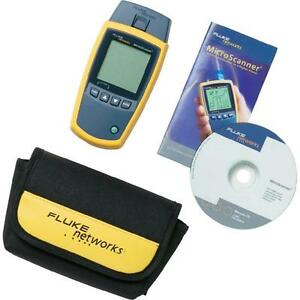 fluke networks ms2 100 microscanner2 cable verifier tracer new ebay. Black Bedroom Furniture Sets. Home Design Ideas