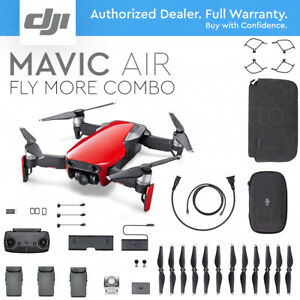 DJI-MAVIC-AIR-Foldable-amp-Portable-Drone-w-4K-Camera-FLAME-RED-FLY-MORE-COMBO