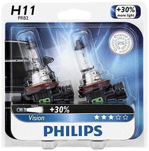 2x-Philips-H11-Upgrade-Extra-Bright-Vision-12362-Halogen-Light-Bulb-GERMANY-Beam