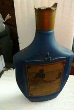 Vintage 1968 Jim Beam Liquor Decanter Blue Hauling in the Gill Net Empty Bottle