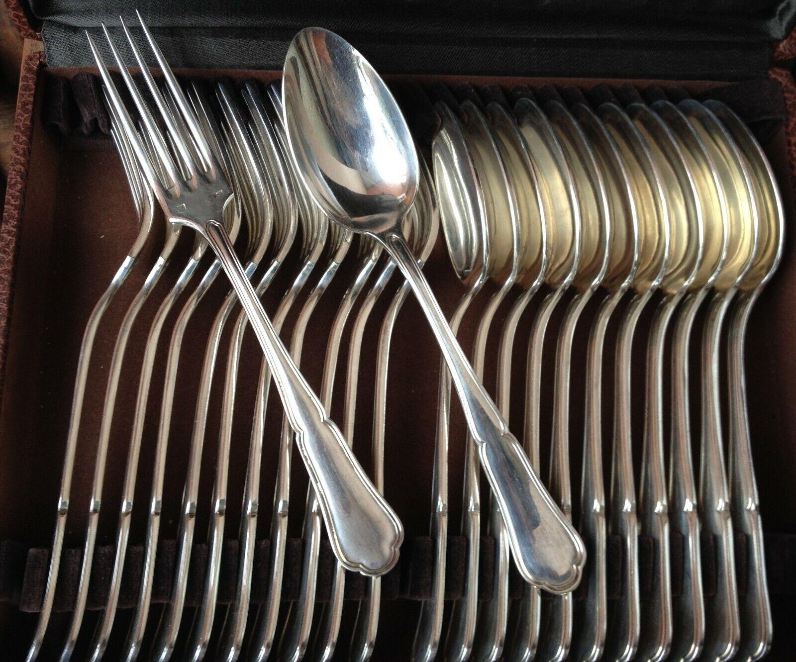 12 couGrüns à entremets en métal Silberé modèle  contours