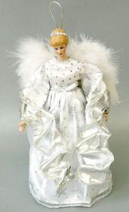 12-New-Angel-Ceramic-Doll-Tree-Topper-Xmas-Decor-Collect-Ornament-White-Gift