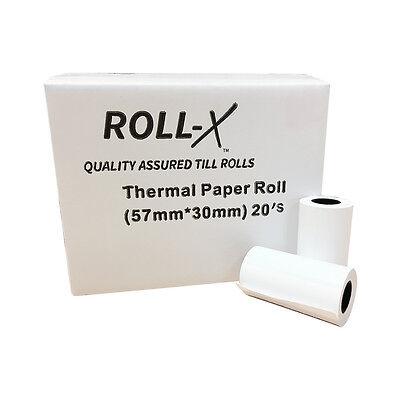 10//200-57x30mm Roll-X Thermal Till Rolls Chip /& Pin PDQ Just £2.92 per 20 !
