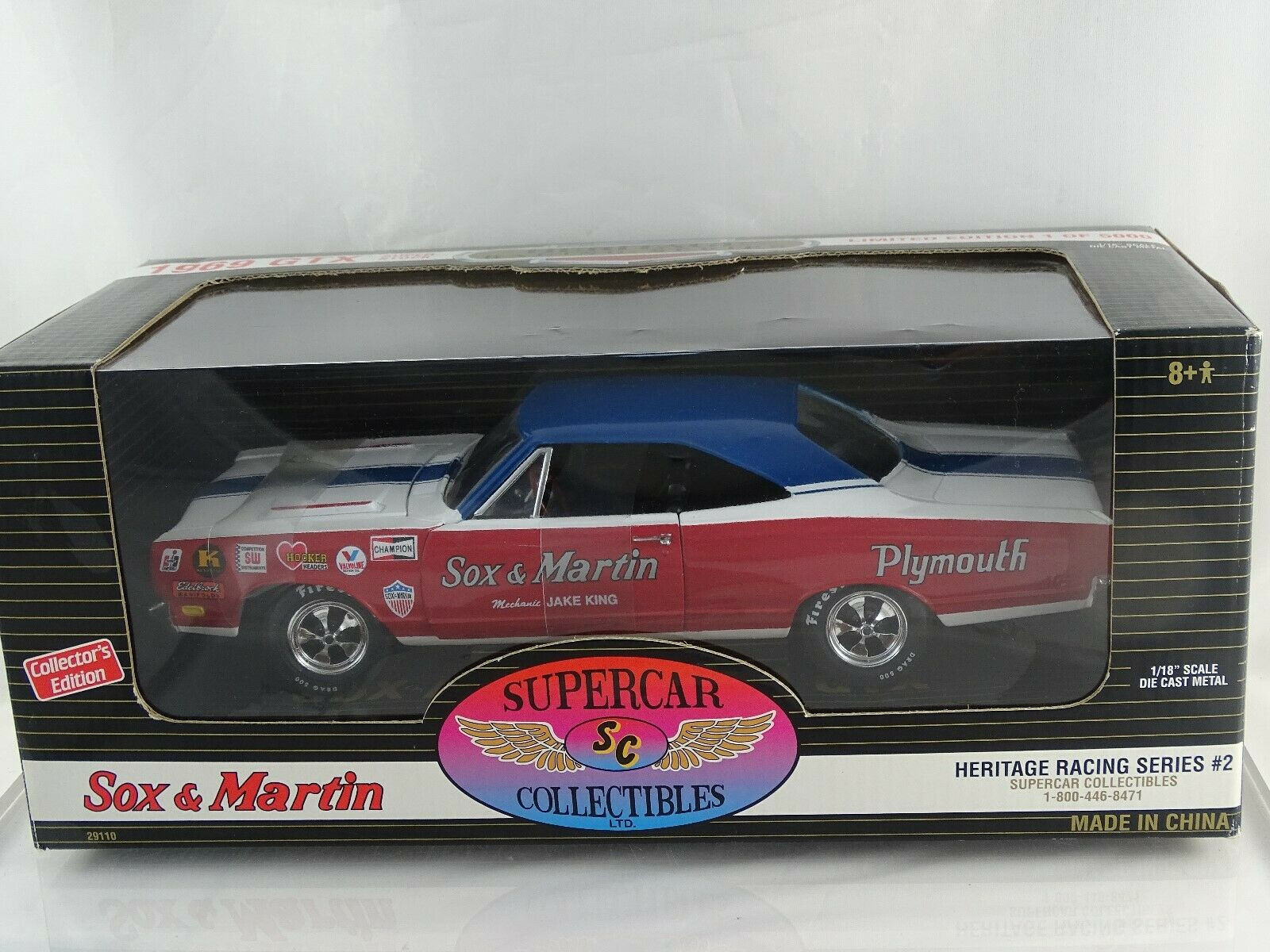 1 18 Ertl 1969 Plymouth GTX Sox & Martin Super Stock Heritage Racing Series  2