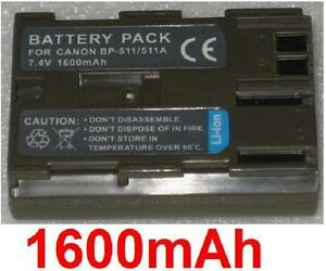 Batterie-1600mAh-Art-BP-508-BP-511-BP-511A-fuer-Canon-MV630i