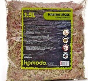 Détails sur Habitat Moss - (1 5 L) - Komodo Naturelle Reptile Lézard  Serpent terrain BP Literie L- afficher le titre d'origine