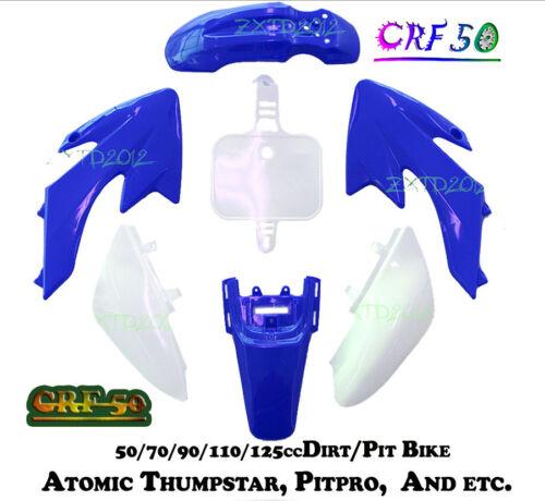 BLUE CRF50 PLASTICS//FAIRING KIT DIRT//BIKE FOR THUMPSTAR//ATOMIK 50//70//90//110//125C