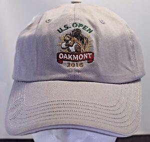 U.S. Open 2016 Oakmont Tan Baseball Hat Cap Adjustable Strap USGA ... 353d98f8deb