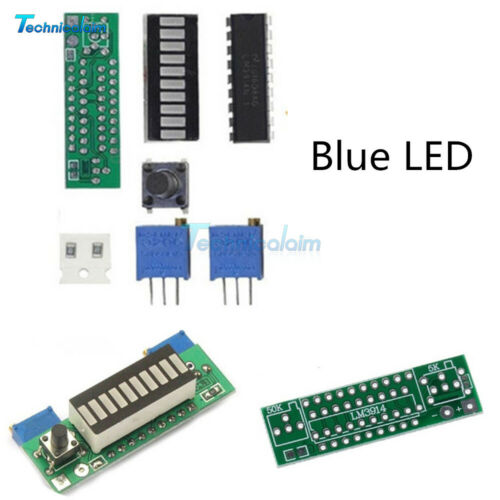 3.7V LM3914 Battery Capacity Power Level Blue LED Indicator for Li-ion Battery