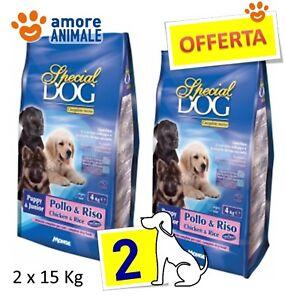 2 SACCHI - MONGE Special Dog Puppy & Junior Pollo e Riso  Kg.15 - Per cane, cani