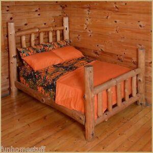 ORANGE-Woods-Hunter-Microfiber-Camouflage-Sheets-Camo-Bed-Sheet-Set-all-Sizes