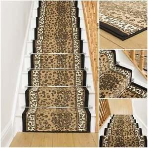 Leoparden Treppe Teppich Laufer Fur Enger Tier Aufdruck Modern