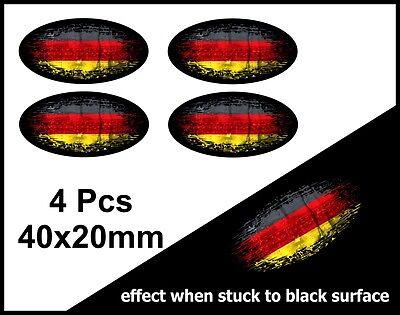 4Pcs Oval FADE TO BLACK /& St Georges Cross England Flag vinyl car sticker 40mm