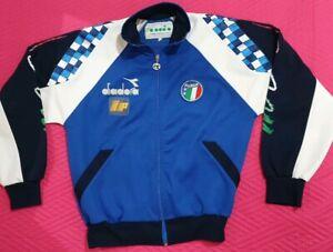 Dettagli su CALCIO ITALIA 90 DIADORA BAGGIO jacket giacca tuta felpa shirt RARE RARA M usata