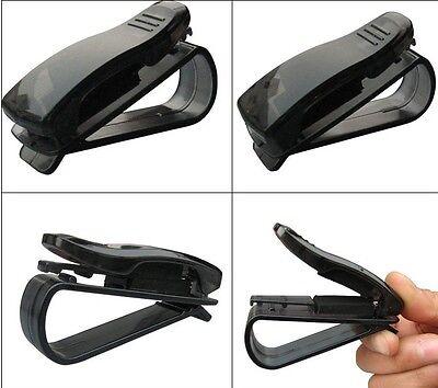 Black Car Vehicle Sun Visor Eye Sunglasses Eyeglass Visor Pen Card Holder Clip