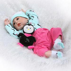 Full-Body-Silicone-Vinyl-22-034-Reborn-Baby-Girl-Doll-Newborn-Lifelike-Unique-Gifts