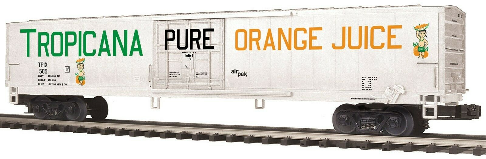 MTH 20-94432 TROPICANA 60 FT REEFER  BOTH RD. NUMBERS 2 CARS
