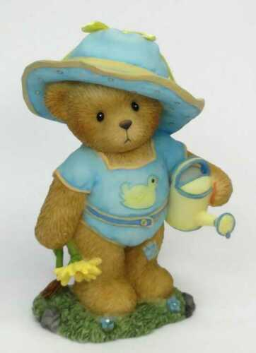FRIENDSHIP SPRING FLOWER HTF! 4012861 CHERISHED TEDDIES CARMELLA CAN NIB