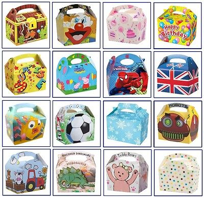 Childrens / Kids Meal Box Bag - Wedding Favour Party Activity Food - Party Boxes