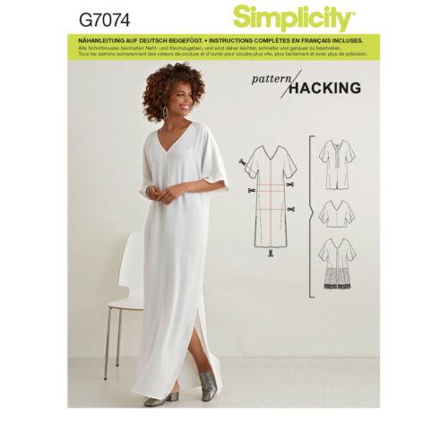 7074 Kaftan Schnittmuster Simplicity Nr