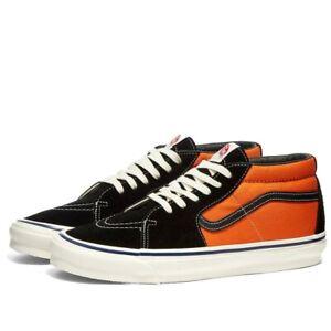 Vans Sk8-Mid LX Exuberance Orange Noir UK 8 US 9 EUR 42 Vault Old Skool Hi OG