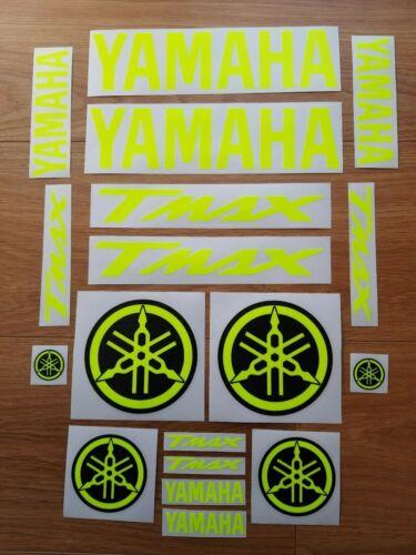YAHAMAHA TMAX KIT 18 STICKER DECAL AUFKLEBER FLUORESCENT YELLOW T MAX  MOTO