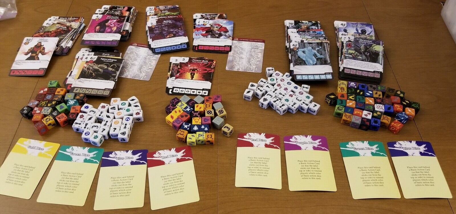 Dice Masters Lot - 151 Dice & 232 Cards - Avengers, X-Men, DC - Common Uncommon