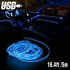 164ft Led Usb Car Interior Decor Atmosphere Wire Strip Light Lamp Accessories
