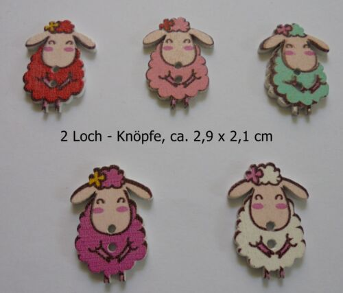scrapbooking Moutons bricolage Neuf! Déco couture Tk3-5 holzknöpfe