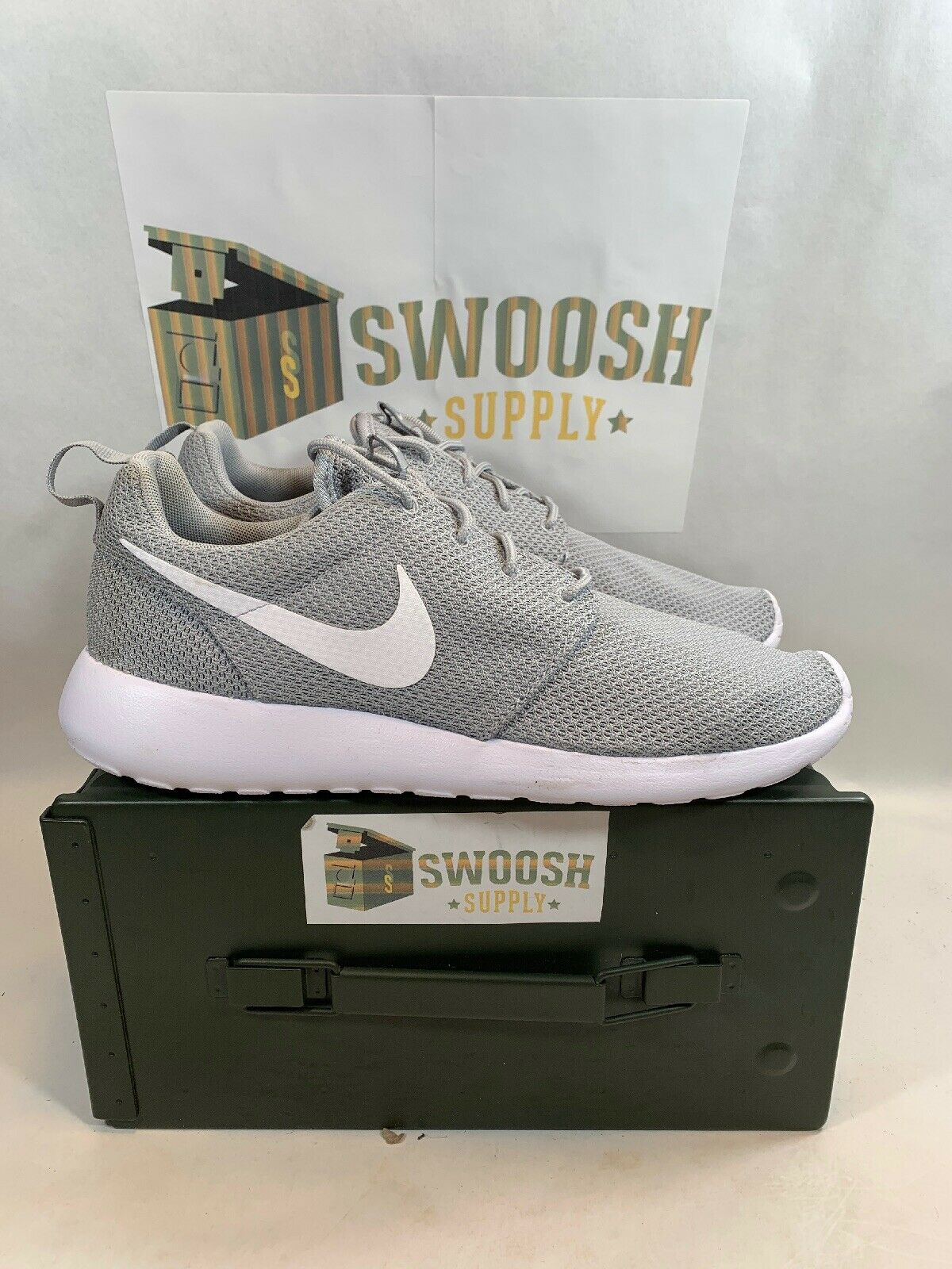 Nike Roshe Run One Wolf Grey Grey Grey   White NEW Men's Size 13 511881 023 1af2d8