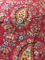 Two Standard Tommy Hilfiger Red Paisley Gypsy/ Boho Pillow Shams