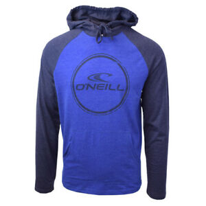 O-039-Neill-Men-039-s-Blue-Weddle-Lightweight-L-S-Pull-Over-Hoodie-Retail-50