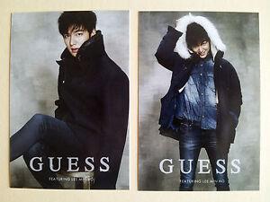 Korean Actor Lee Min Ho Minho Jean Brand Guess Postcard Post Photo Card - Type B