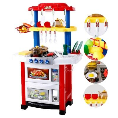 Kid Kitchen Playset For Girls Pretend Play Toy Cooking Set ...